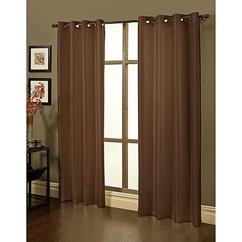 Sherry Kline Faux Silk Grommet Blackout Window Curtain