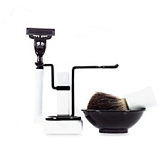 image of Axwell-USA Shaving Set RBSB Series in White & Black