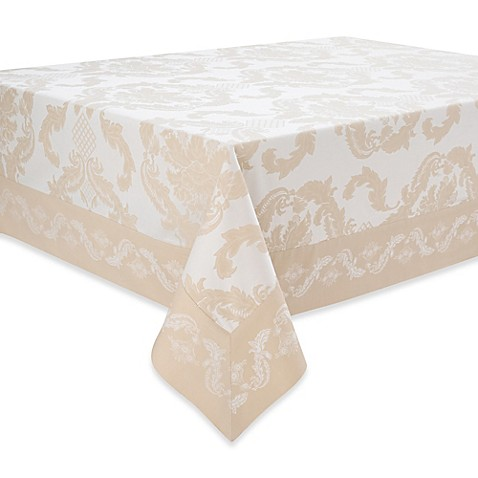 Waterford 174 Linens Damascus Tablecloth Bed Bath Amp Beyond