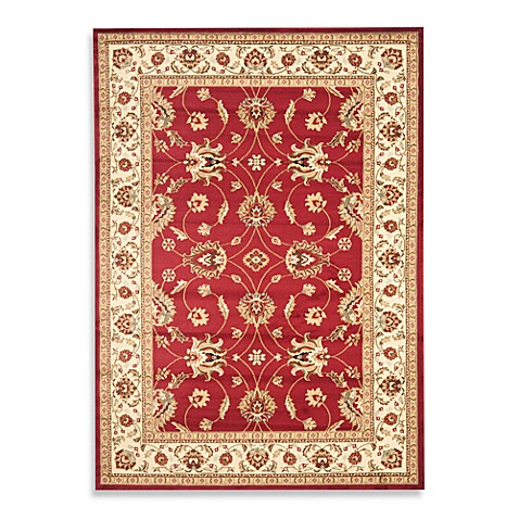 Safavieh Lyndhurst Flower 8-Foot x 11-Foot Room Size Rug in Red