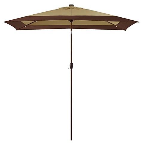Buy 11 Foot Rectangular Aluminum Solar Patio Umbrella From