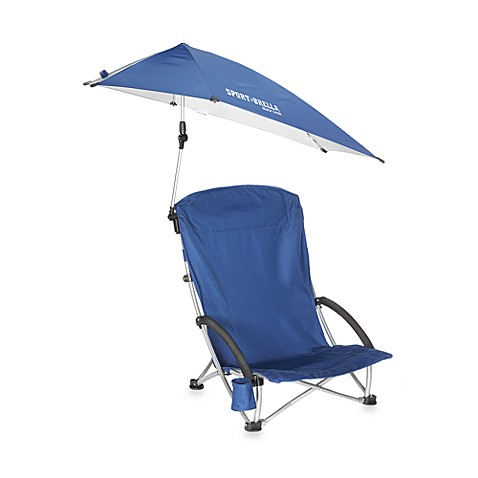 Buy Sport Brella Beach Chair With Canopy In Blue From Bed