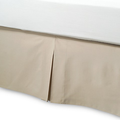 buy smoothweave 14 inch tailored twin extra long bed skirt in mocha from bed bath beyond. Black Bedroom Furniture Sets. Home Design Ideas