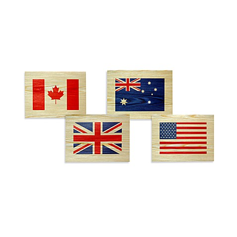 Flag Wood Veneer Wall Art Bed Bath Amp Beyond