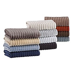 image of Turkish Ribbed Bath Towel Collection