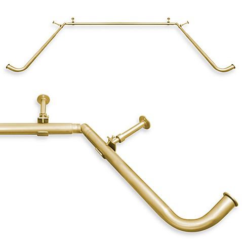 Blockaide 38 Inch To 78 Inch Bay Window Curtain Rod System 1 Inch Diameter Rod Bed Bath Beyond