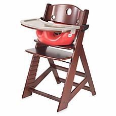 image of Keekaroo® Height Right High Chair Mahogany with Cherry Infant Insert and Tray