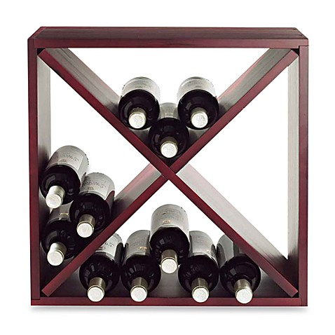 24 Bottle Compact Wood Cube Wine Rack Bed Bath Amp Beyond