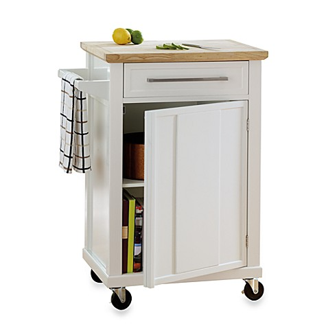 Real Simple® Rolling Kitchen Cart In White - Bed Bath & Beyond