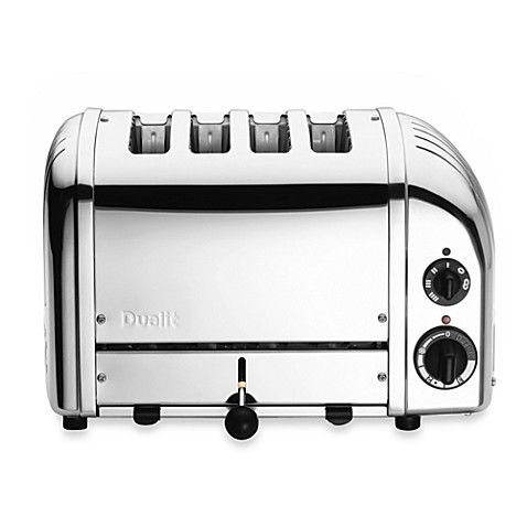 Personalization is required to add item to cart or registry. Dualit  4 Slice Chrome Toaster   Bed Bath   Beyond