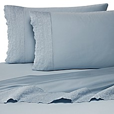 image of Wamsutta® 400 Thread Count Lace Hem Sheet Set, 100% Cotton