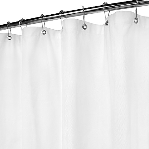 Park B Smith White Pique Shower Curtain