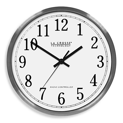 La Crosse Technology 12 Quot Atomic Aluminum Wall Clock With