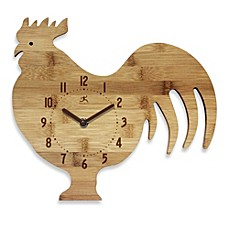 image of Infinity Instruments Roost & Serve Bamboo Walk Clock