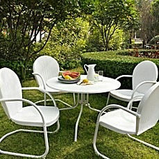 image of Crosley Griffith 5-Piece Metal Outdoor Dining Set