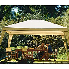 image of coolaroo isabella aluminum frame rectangular gazebo - Outdoor Canopies