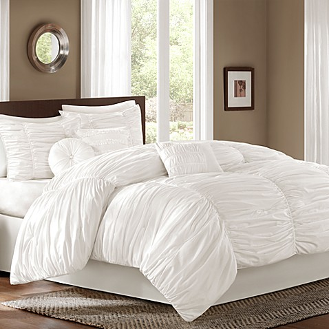 sidney 6 7 comforter set in white bed bath amp beyond sidney 6 7 comforter set in white bed bath amp beyond 997