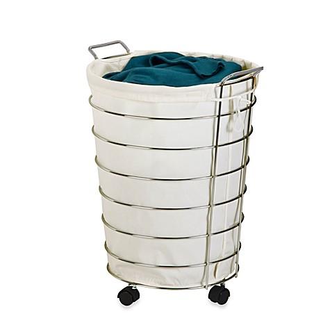 rolling laundry hamper in