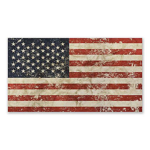 American Flag 40-Inch x 22-Inch Canvas Wall Art