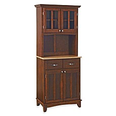 Image Of Home Styles Natural Wood Top Small Buffet/Server With Hutch