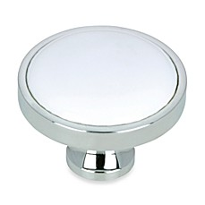 image of Richelieu Classic Chrome Knob in White