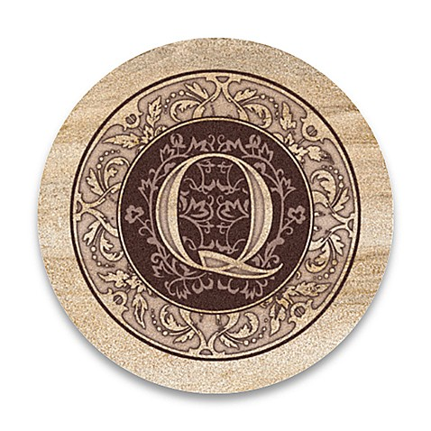 "Monogram Letter ""Q"" Coasters (Set of 4)"