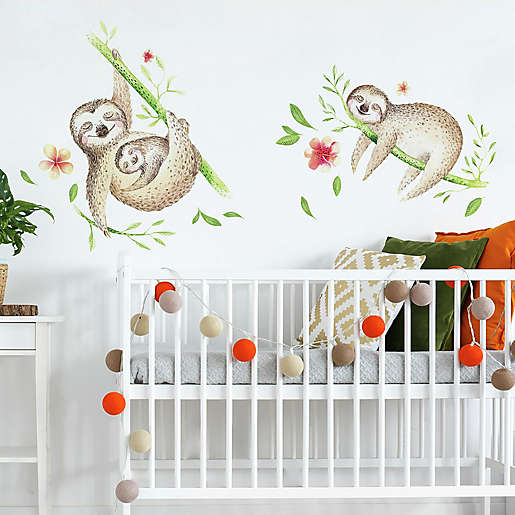RoomMates Koala and Sloth Peel & Stick Wall Decals