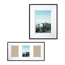 image of wall gallery sloped metal frames black