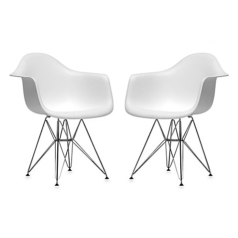 Plastic Chair In White Set Of 2 Bed Bath Amp Beyond