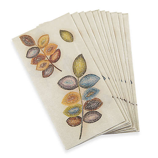 Croscill Mosaic Leaves 16 Pack Guest Towels Bed Bath Beyond