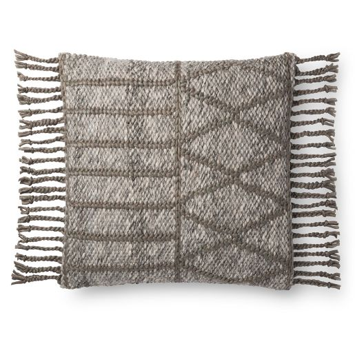 Magnolia Home By Joanna Gaines Otto Square Throw Pillow in Grey/Olive. You've gotta love Joanna Gaines style and her admiration for global, tribal, boho chic pillows like this Magnolia Home Otto Gray Pillow! Come discover more French Farmhouse Decor inspired by Fixer Upper and click here to Get the Look of The Club House Kitchen & Sun Room. #fixerupper #joannagaines #kitchendecor #frenchfarmhouse