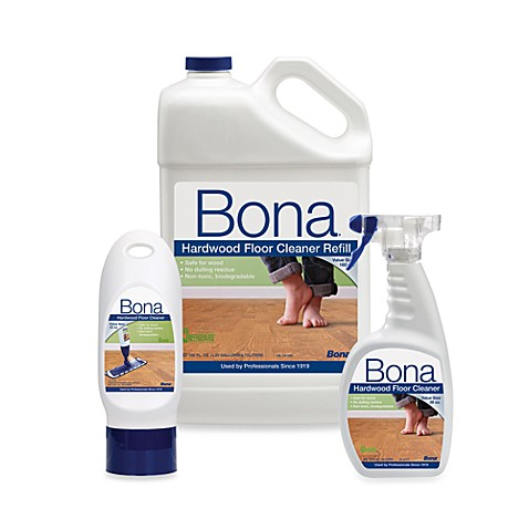 Bona hardwood floor cleaners bed bath beyond for Bathroom floor cleaning products