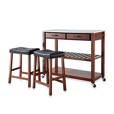 Buy Crosley Stainless Steel Top Kitchen Rolling Cart