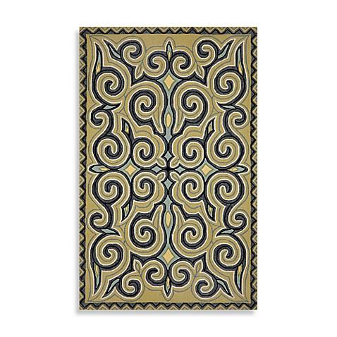 trans ocean kazakh indoor outdoor rug in ocean bed bath beyond. Black Bedroom Furniture Sets. Home Design Ideas