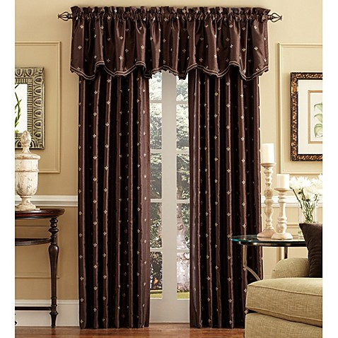 Celeste Rod Pocket Back Tab Window Curtain Panels Bed