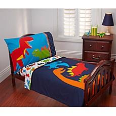 image of prehistoric pals 4piece toddler bedding set