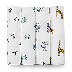 image of aden + anais® Classic 4-Pack Muslin Swaddles in Jungle Jam