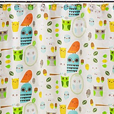 Image Of Creative Bath Give A Hoot Cotton Shower Curtain