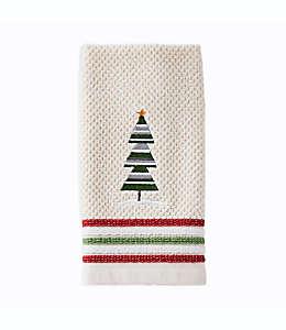 Toalla fingertip con árbol de navidad en beige