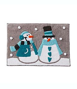 Tapete para baño Snow Buddies de 50.8 x 76.2 cm en turquesa