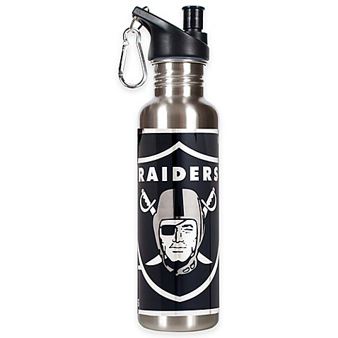 Oakland Raiders 26-Ounce Stainless Steel Water Bottle