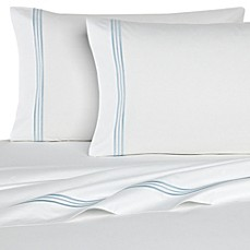 image of Bellino Fine Linens® Tivoli Cotton Fitted Sheet in White