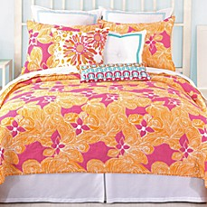 image of Trina Turk® Floral Reversible Coverlet
