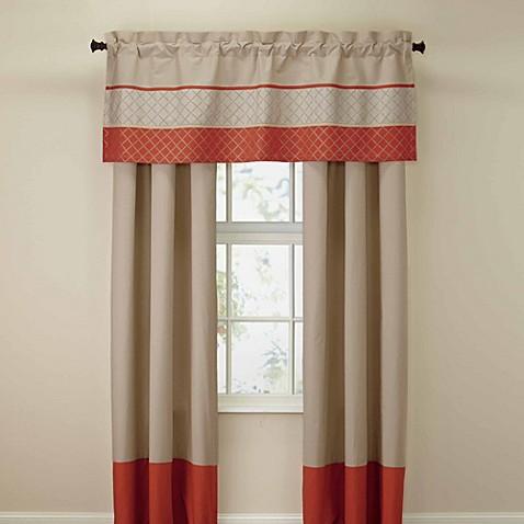 royal heritage home pelham window valance in orange bed bath beyond. Black Bedroom Furniture Sets. Home Design Ideas