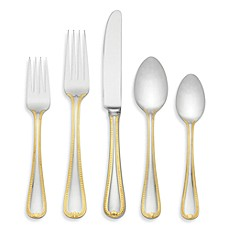 image of Lenox® Vintage Jewel Gold™ 5-Piece Flatware Place Setting