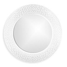image of howard elliott bergman 32inch round wall mirror in white