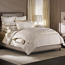 image of barbara barry dream peaceful pique duvet cover in moonglow - Barbara Barry Bedding