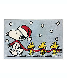 Tapete para baño Peanuts™ Holiday Skating de 50.8 x 76.2 cm
