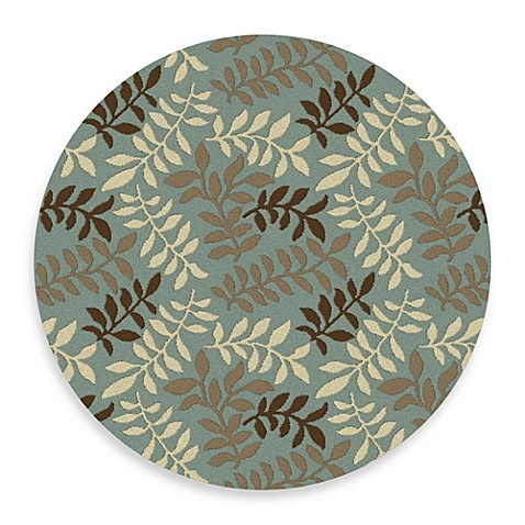 Buy leafs 7 foot 10 inch round rug in blue from bed bath for Where to buy round rugs