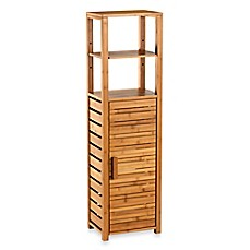 Image Of Bamboo Tall Floor Cabinet